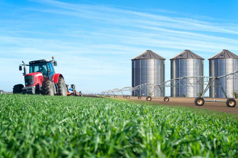 Grain SIlos on a farm